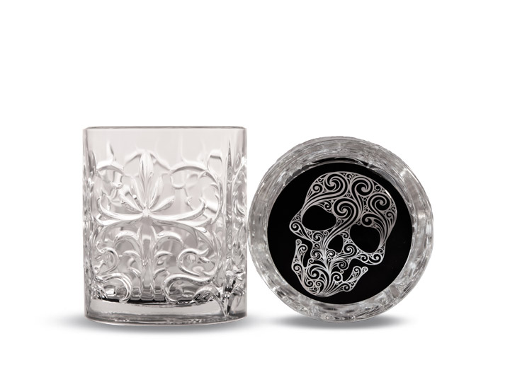 The Infamous N° 01 Premium Spiced Rum crystal tumbler glass