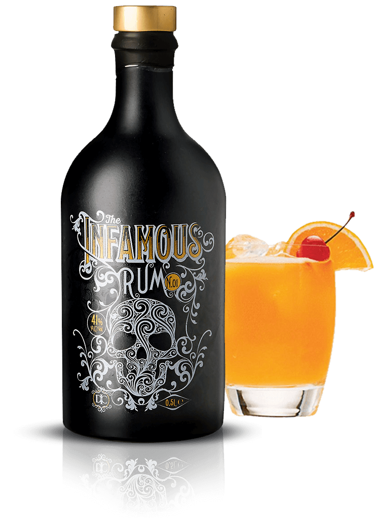 The Infamous N°01 - Premium Spiced Rum in an Infamous Storm